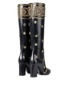 ALBERTA FERRETTI Boots with gold embroidery BOOTS D r