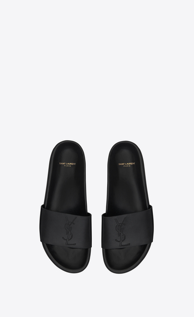 SAINT LAURENT Casual Shoes Man jimmy 20 sandal in black leather b_V4
