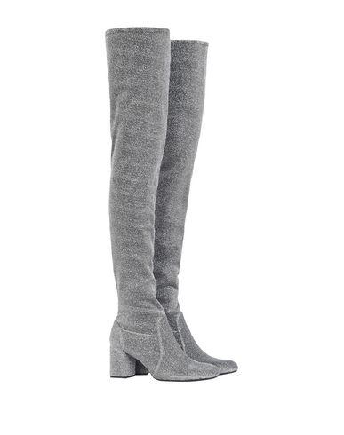 Фото - Женские сапоги  серого цвета