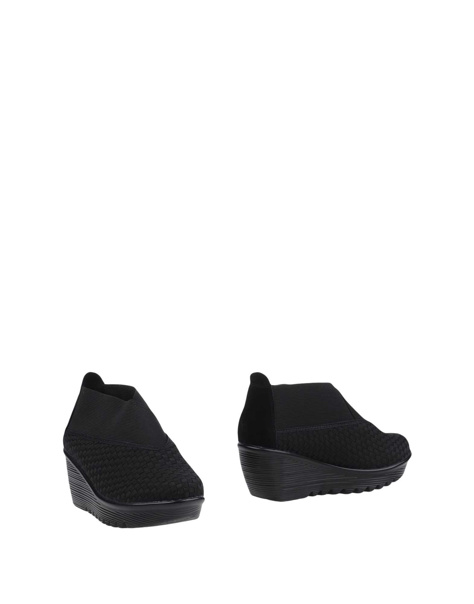 BERNIE MEV. Booties. techno fabric, no appliqués, solid color, round toeline, wedge heel, rubber wedge, unlined, rubber cleated sole. Textile fibers