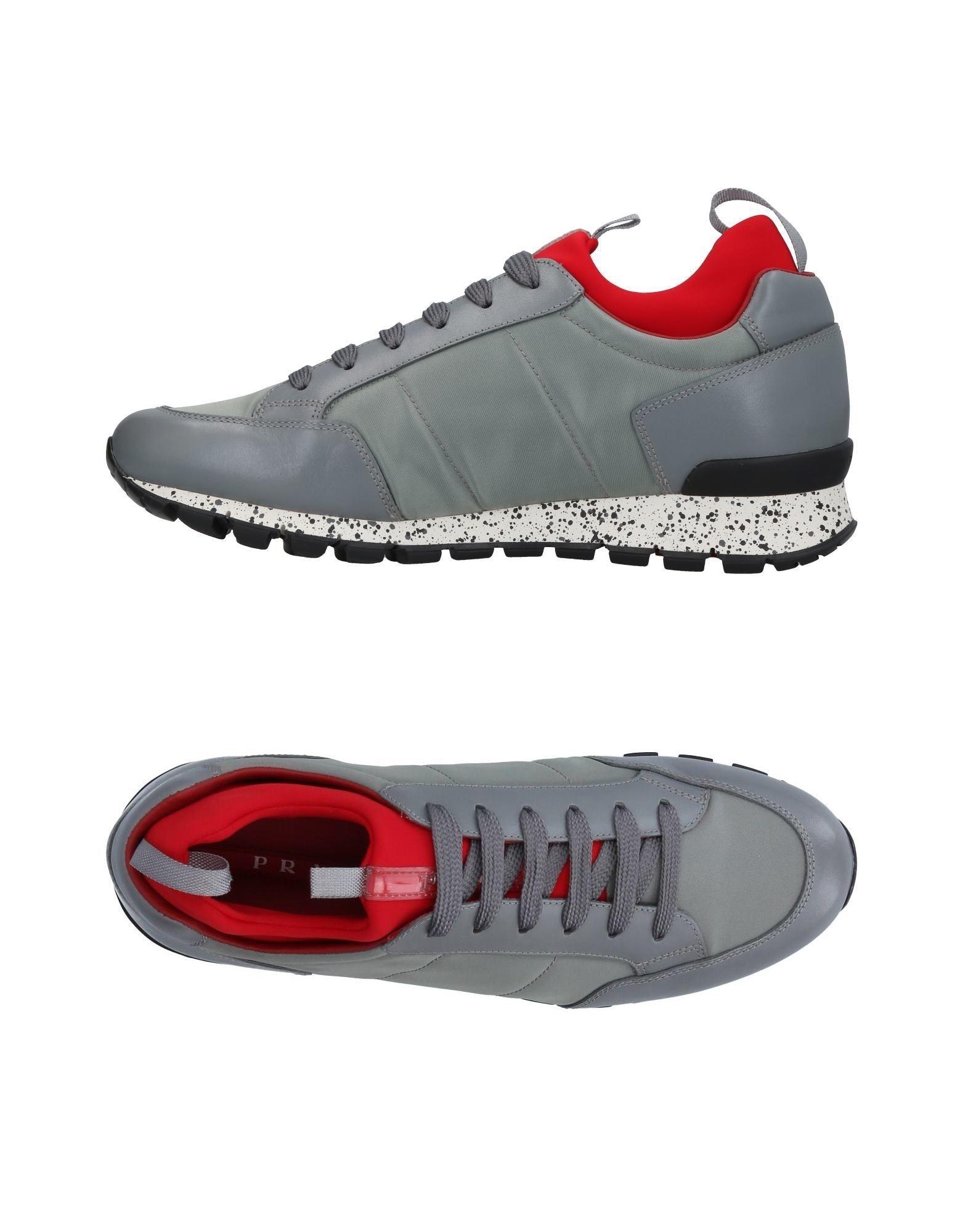PRADA SPORT Herren Low Sneakers & Tennisschuhe Farbe Grau Größe 11