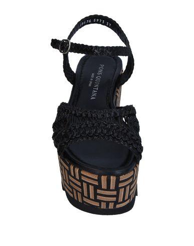 Фото 2 - Женские сандали PONS QUINTANA черного цвета