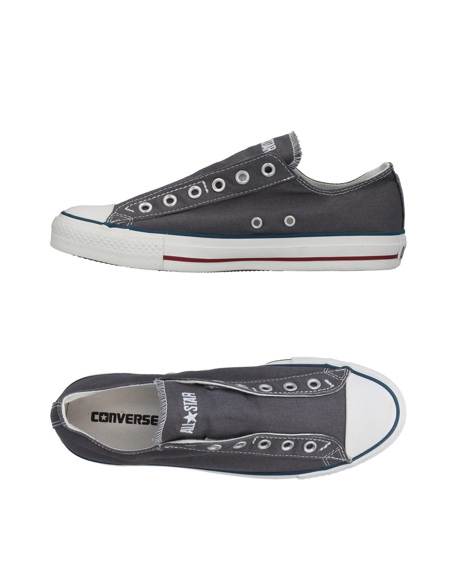 CONVERSE ALL STAR Herren Low Sneakers & Tennisschuhe Farbe Grau Größe 10
