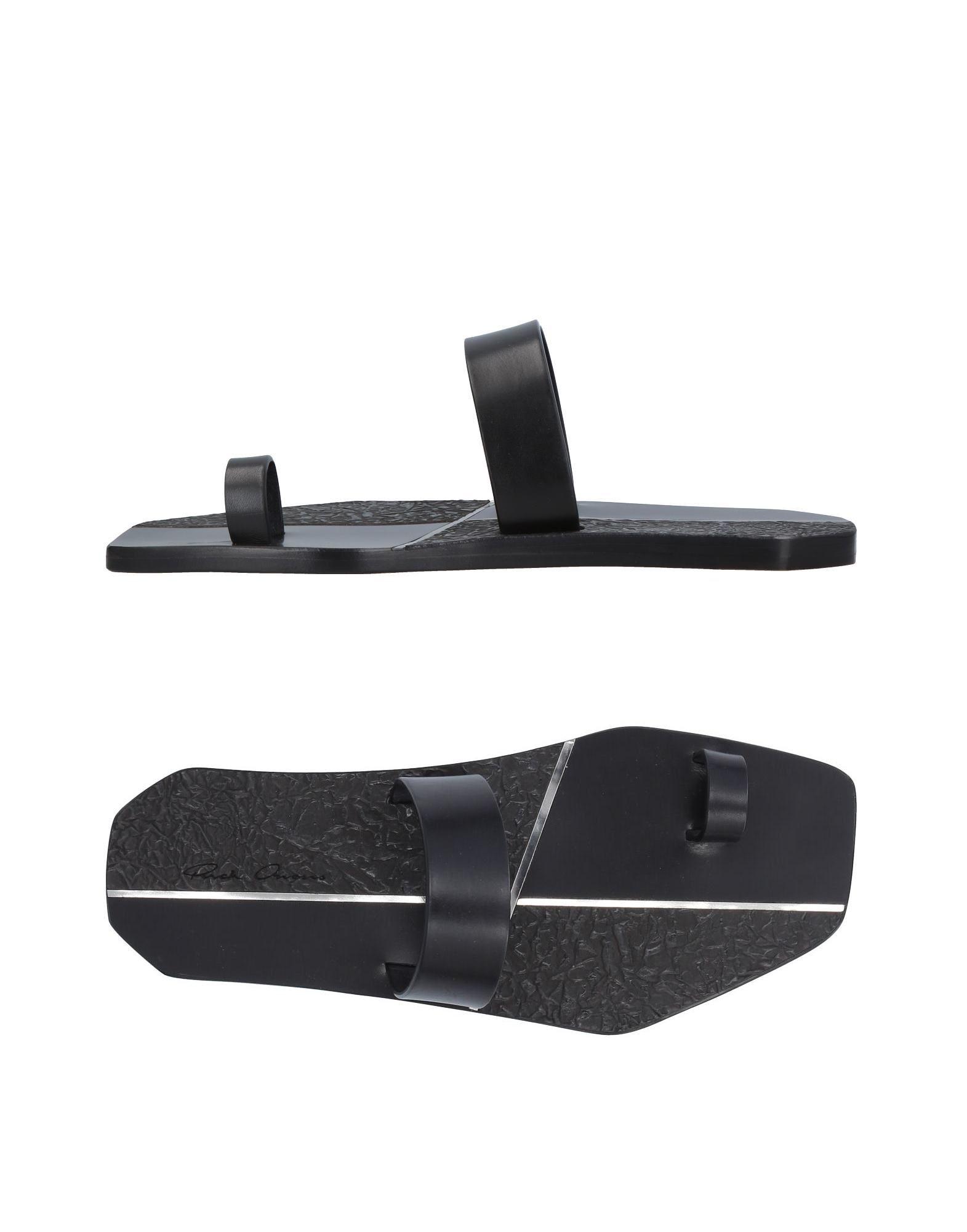 007d173f87d Rick Owens Flip Flops In Black