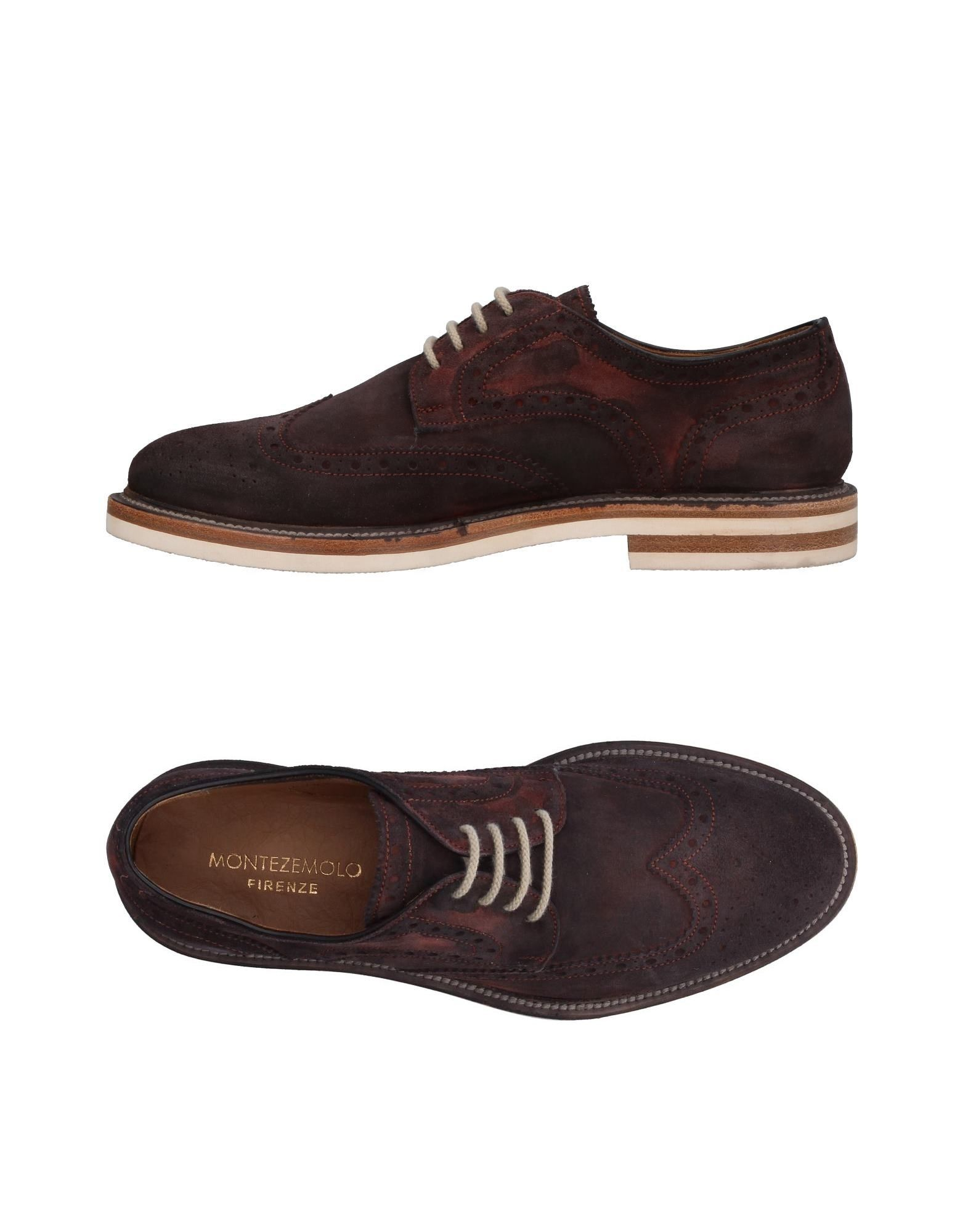 MONTEZEMOLO Laced Shoes in Deep Purple