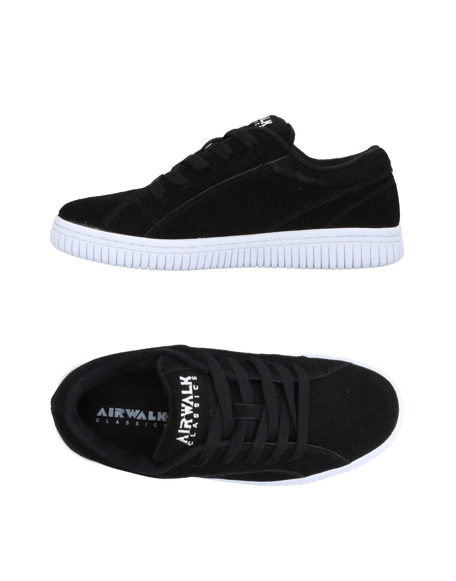 《送料無料》AIRWALK メンズ スニーカー&テニスシューズ(ローカット) ブラック 7.5 革