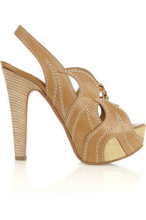 ALAÏA Leather platform sandals