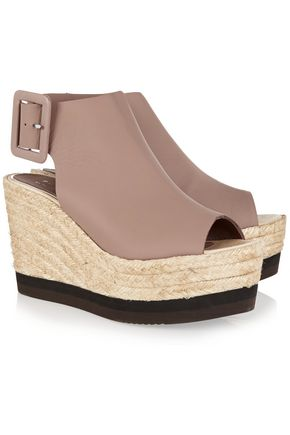PALOMA BARCELÓ Leather wedge sandals
