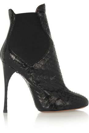ALAÏA Python ankle boots