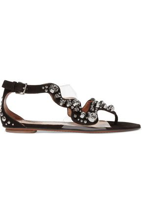 ALAÏA Embellished suede sandals