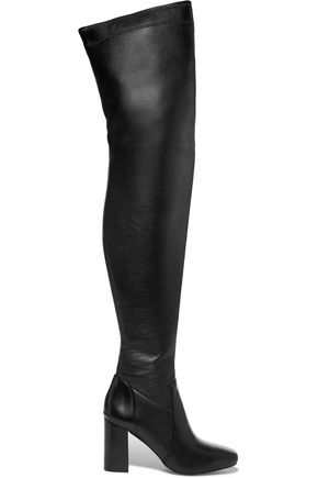 Michael Michael Kors Leathers WOMAN CHASE LEATHER OVER-THE-KNEE BOOTS BLACK
