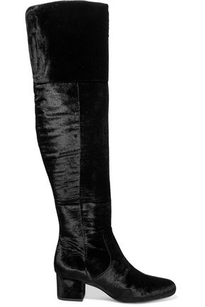 Elina velvet over-the-knee boots