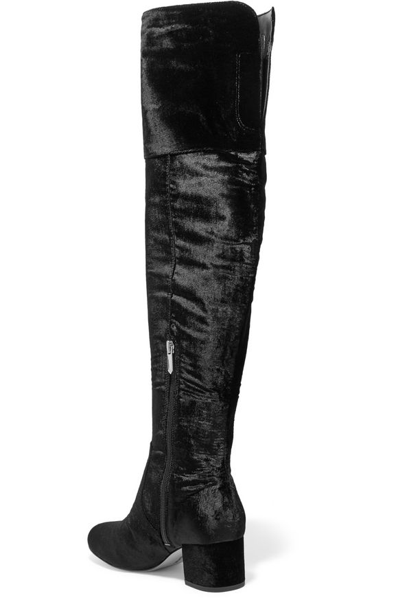 740f608d439be3 Elina velvet over-the-knee boots