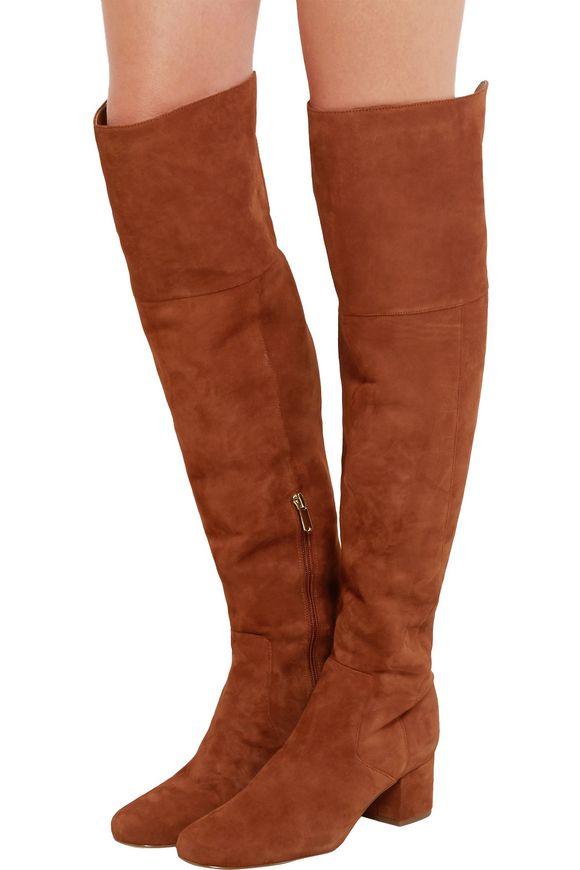 553e4e96afe5 Elina suede over-the-knee boots