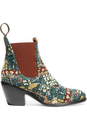 CHLOÉ Bouclé-jacquard ankle boots