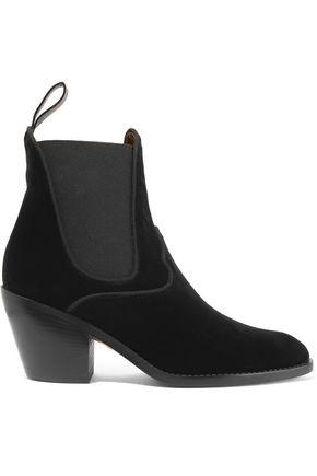 CHLOÉ Velvet ankle boots