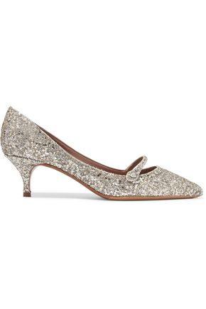 TABITHA SIMMONS Layton glittered leather pumps