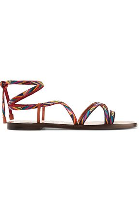 VALENTINO GARAVANI Embroidered leather sandals