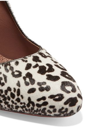 ALAÏA Leopard-print calf hair pumps