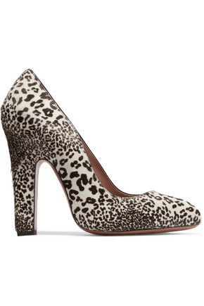 ALAÏA Leopard-print calf hair pumps