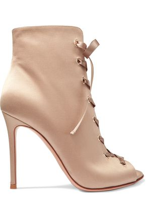 GIANVITO ROSSI Lace-up satin boots