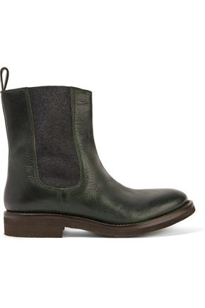 BRUNELLO CUCINELLI Textured-leather ankle boots