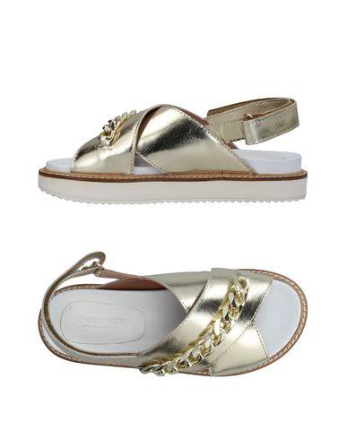 Фото - Женские сандали TWINSET цвет платиновый