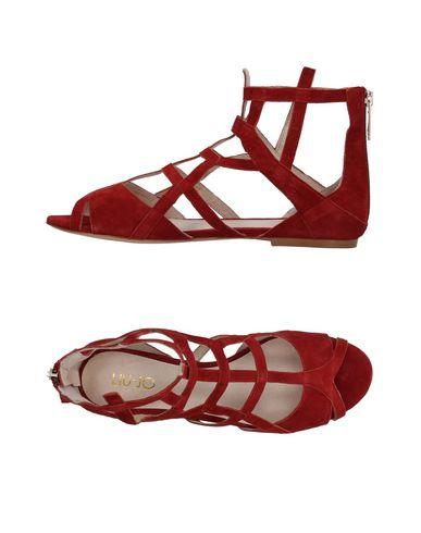 Фото - Женские сандали  кирпично-красного цвета