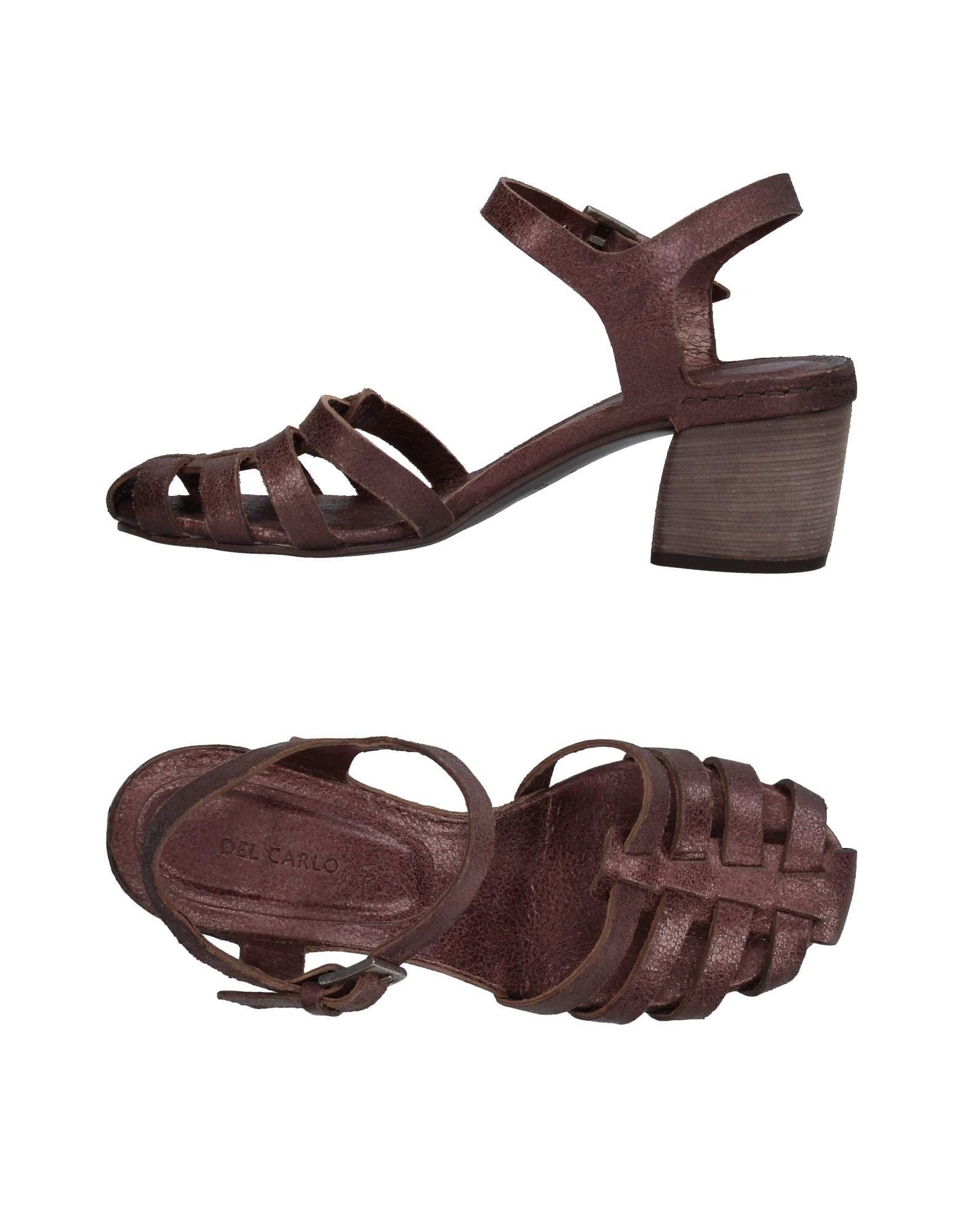 DEL CARLO Damen Sandale Farbe Pflaume Größe 9