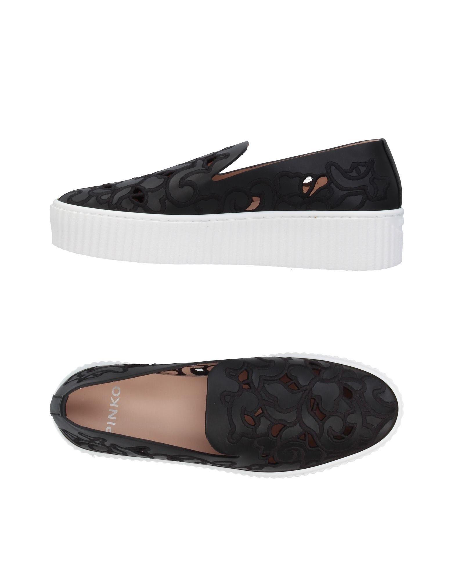 《送料無料》PINKO レディース スニーカー&テニスシューズ(ローカット) ブラック 40 革 / 紡績繊維