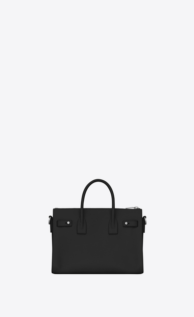 SAINT LAURENT Sac De Jour Supple D Baby SAC DE JOUR SOUPLE duffle bag in black grained leather b_V4