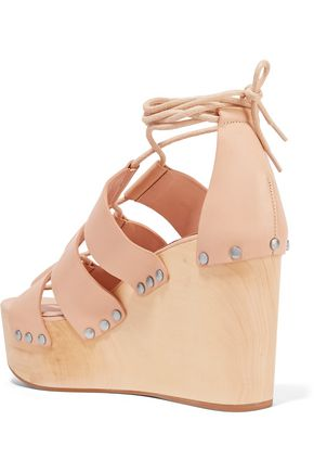 LOEFFLER RANDALL Ines lace-up leather wedge sandals