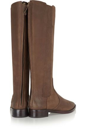 TORY BURCH Newton nubuck knee boots
