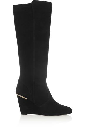TORY BURCH Hendin suede wedge boots