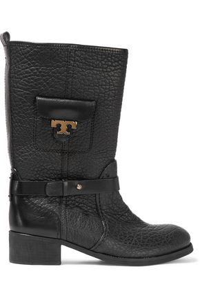 TORY BURCH Leona textured-leather boots