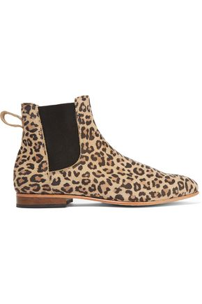 DIEPPA RESTREPO Troy leopard-print suede ankle boots