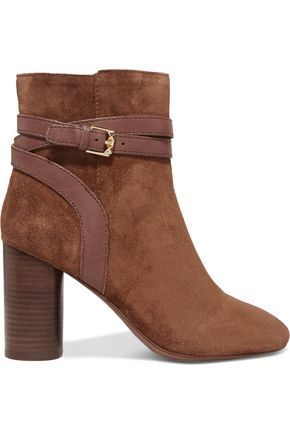 ASH Glenda buckled suede ankle boots