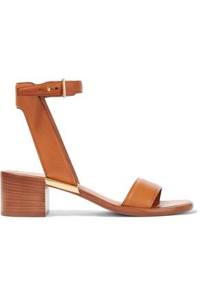 ROSETTA GETTY Kayla embellished two-tone leather sandals