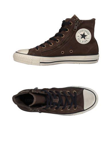 Фото - Высокие кеды и кроссовки от CONVERSE ALL STAR темно-коричневого цвета