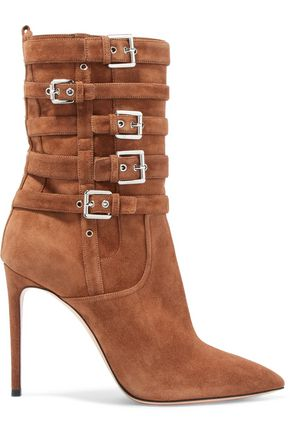 CASADEI Buckled suede ankle boots