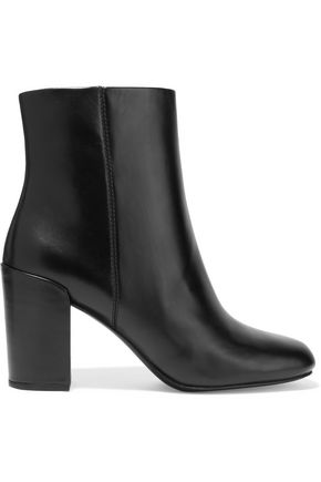 ALEXANDER WANG Hana glossed-leather ankle boots