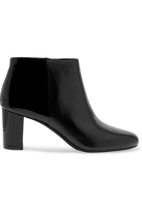 MICHAEL MICHAEL KORS Lucy patent and smooth leather ankle boots