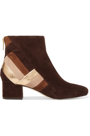 MICHAEL MICHAEL KORS Paneled suede ankle boots