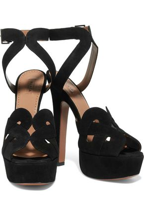 ALAÏA Cutout suede sandals
