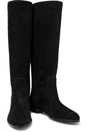 SERGIO ROSSI Buckled suede boots