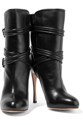 GIANVITO ROSSI Buckled leather boots