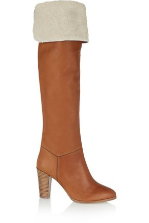 VANESSA SEWARD Anita shearling-lined leather over-the-knee boots