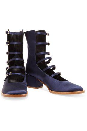 TIBI Kai satin ankle boots