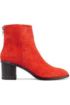 RAG & BONE Willow stud-embellished suede ankle boots