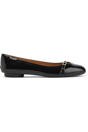 SALVATORE FERRAGAMO Patent-leather ballet flats